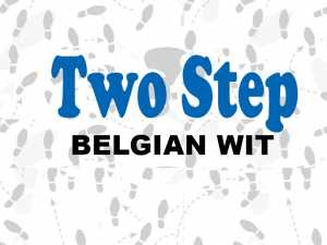 Two Step Belgian Wit