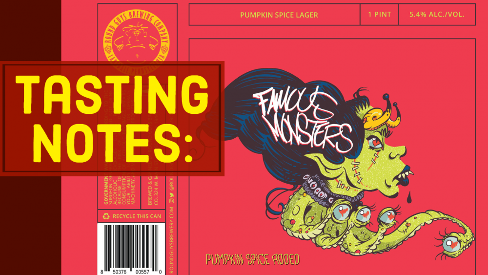 Lansdale, PA based Round Guys Brewing Company's Famous Monsters Pumpkin Lager.