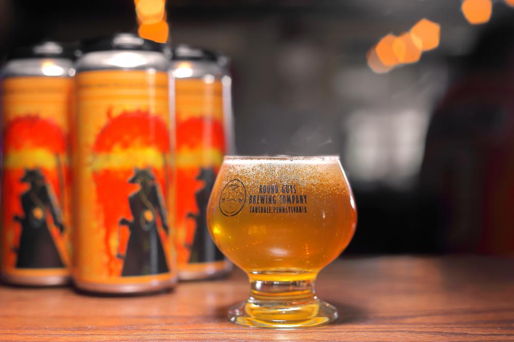 Round Guys Brewing Company's Tangerine Liquid Swords Beer.