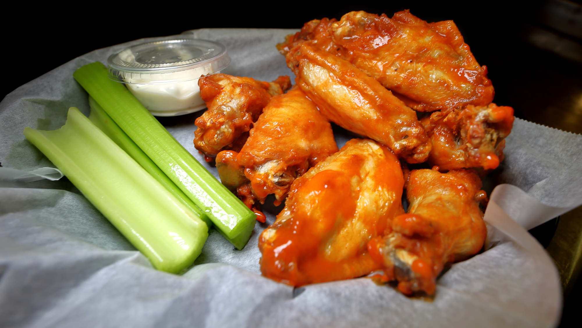 Wings at Round Guys Brewing Company