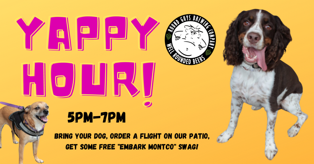 Yappy Hour at Round Guys Brewing Company in Lansdale, PA